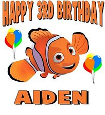 PERSONALIZED CUSTOM FINDING NEMO BIRTHDAY T SHIRT PARTY FAVOR GIFT