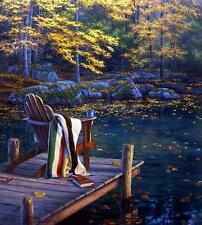 Darrell Bush Reflecting on Golden Pond Art Prints Signed and Numbered