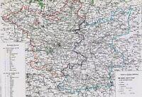 Alte Landkarte BRANDENBURG 176 Jahre alt - Berlin Potsdam Neuruppin✠ 1844