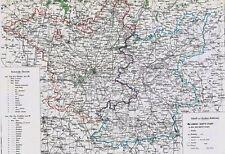 161 Jahre alte Landkarte BRANDENBURG Berlin Potsdam Ruppin Luckenwalde 1856