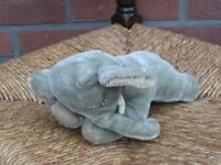 Steiff Floppy Ele Mohair Elephant 5537/17 NO ID