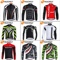 Men's Cycling Jersey Jackets Sport Clothing Bike Long Sleeve Bicycle Jersey Top