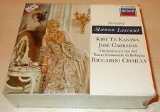 PUCCINI-MANON LESCAUT-WG 2xCD 1988-CHAILLY/KIRI TE KANAWA-FULL SILVER RINGS-MINT