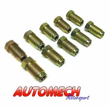 """Automech Brake Pipe union M10x1 for 3/16"""" Pipe Pack of 10, Plated Finish (U20)"""