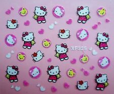 Hello kitty self-adhesive 3D Glitter Nail Sticker Decoration Decal XF325