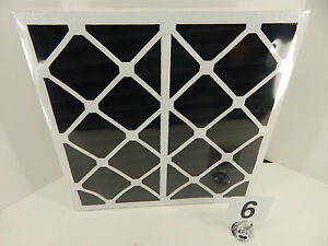 6-PACK FLANDERS PRECISION AIR 20 x 20 x 4 PLEATED CHARCOAL AIR FILTER