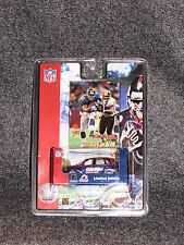 Tiki Barber 2001 Ultra Card & 1:58 Scale Ny Giants Die Cast Pt Cruiser Nib