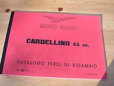 Moto Guzzi Cardellino 65cc, ital. Ersatzteilliste 1. Edit. 1955