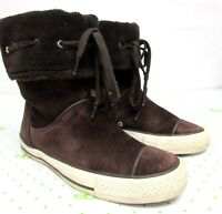30e35ee417d5 women Converse all Star CT Andover High Brown Suede Boots Size 9