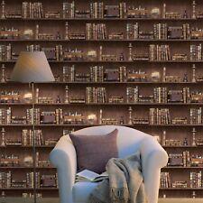 Bücherregale Tapete - braun 11950 Holden - Bibliothek NEU