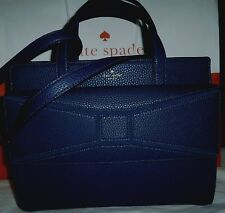 NEW KATE SPADE CHANTAL BRIDGE PLACE BOW SATCHEL TOTE CROSSBODY BAG FRENCH NAVY