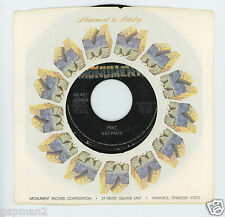 Ray Price 1978 Monument 45rpm Feet b/w Let's Make A Nice Memory (Today)