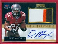 2012 PROMINENCE (FB) Doug Martin SSP AUTO/3-COLOR PATCH ROOKIE/RC CARD #d 12/15