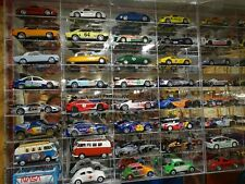 1:32 Slot Car Display Case for 32 cars SCALEXTRIC NINCO SCX FLY MIRROR BACK USED