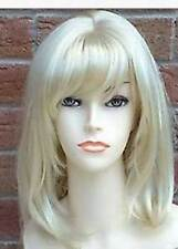 HELLOJF1280 new fancy medium blonde white straight health hair wig wigs  women