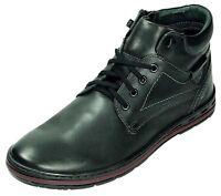 Abis 11K-6-294 Business Schuhe Boots Leder Stiefeletten schwarz Gr.40-45 Neu6