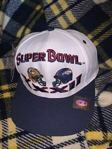 1998 Super Bowl XXXII 32 Packers Broncos Adult Snapback Hat NFL Vintage Logo 7