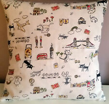 Cat Cushion Cover Holiday Novelty Cat Fabric  - Pillow - Sham  London bridge