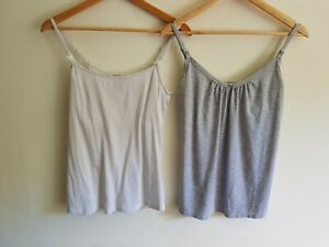 New Look and Mamas&Papas maternity nursing Size 10 vest top bundle (2 items)