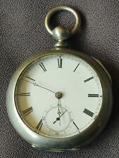 1883 WALTHAM BROADWAY 18 SIZE KEYWIND POCKET WATCH 7J