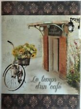Rice Paper for Decoupage Scrapbook and Crafts Bike and Flowers 484
