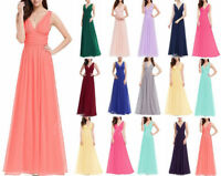 Chiffon Prom Dresses Evening New Formal Party Ball Gown Bridesmaid Custom Size