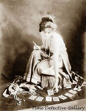 Fortune Teller with Tarot Cards - Early 1900s - Historic Photo Print