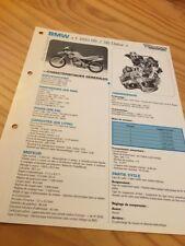 BMW F650 GS Dakar 2000 à 2002 F650GS F 650 Fiche technique moto RMT ETAI