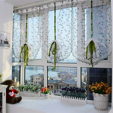 Flower color Tulle Door Window Curtain Drape Panel Sheer Scarf Valance Xmas Gift
