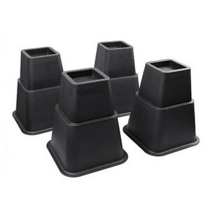 8 PCS Adjust 3,5,8-inch Bed Risers Lifter Strong Furniture Bed Under Storage