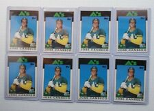 jose canseco (20 Ct) RC & 2nd Yr Lot (1986 Topps Traded, Fleer Update, Donruss)