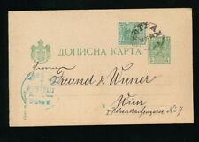 Serbien, Ganzsachen-Geschäftspostkarte 1894 aus Belgrad nach Wien (J25)