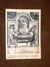 Firenze Chiesa di Santa Croce Monumento a Galieo Galilei di G.B. Foggini