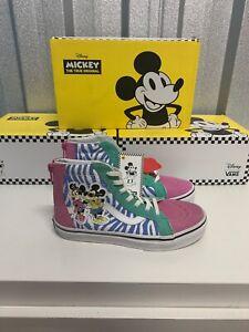 Vans Kids SK8 Hi Zip Disney Minnie Mouse Design UK Size 2.5