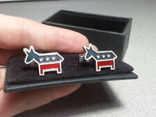 Democratic Party Cufflinks 925 Sterling Silver By Ravi Ratan Donkey USA