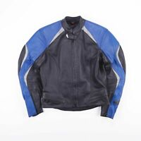 Vintage HEIN GERICKE Hiprotec Black Biker Racing Leather Jacket Mens Size Small