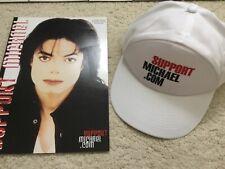 Vintage Michael Jackson Support magazine and cap lot EXC
