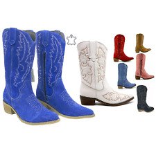 Ladies Womens Cowboy Boots Winter Fashion Biker Knee High Riding Shoes Size 2-9