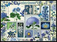 Blue Flowers - Chart Counted Cross Stitch Pattern Needlework Xstitch craft DIY