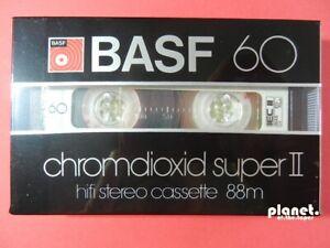 🔛 1x BASF Chromdioxid Super II 2 60 * cassette Kassette кассета * NEW NEU 🔝~
