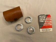 Vintage POLAROID CLOSE-UP LENS KIT - Diopter Lens Tape Measure Leather Case #540
