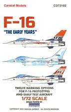 """Caracal Decals 1/72 F-16 Falcon """"The Early Years"""" Prototype & Test Aircraft"""