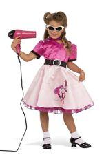 50's Beauty School Girl Costume Sock Hop Pink Dress Child Size Small 4-6