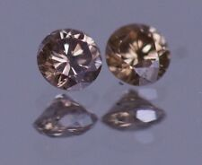 0.50 CARAT CHAMPAGNE BROWN DIAMOND 100% NATURAL PAIR 4.0 mm REAL IMAGE ASSAR
