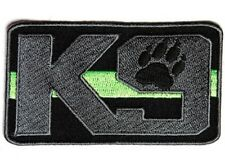 "(F10) K9 GREEN LINE Park Ranger / Border Patrol 3.5"" x 2"" iron on patch (4602)"