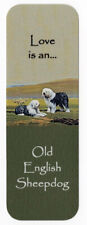 OLD ENGLISH SHEEPDOG BEAUTIFUL DOG BOOKMARK SAME IMAGE BOTH SIDES GREAT GIFT