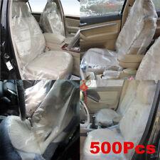 Universal Car Seat Covers 500X Disposable Plastic Auto Protectors Mechanic Valet