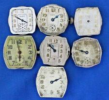 Vintage Antique Elgin Mens Wrist watch Movements Lot 17 Jewels / parts repair (b