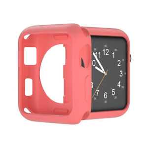 For Apple Watch 38/40/42/44mm iWatch Case Cover TPU Soft Bumper Protective Skin