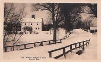 Postcard RPPC Whittier's Birthplace Winter Haverhill MA